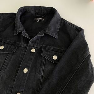 Missguided black denim jacket
